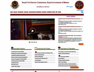 rcsc.gov.bt screenshot