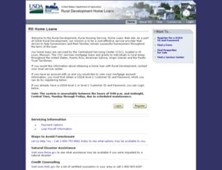 rdhomeloans.usda.gov screenshot