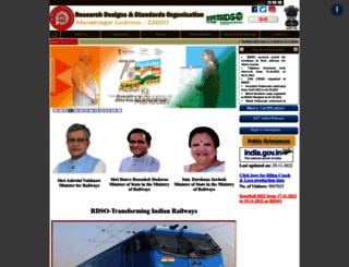 rdso.indianrailways.gov.in screenshot