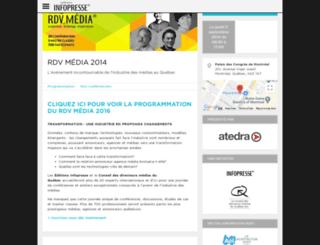 rdvmedia.infopresse.com screenshot