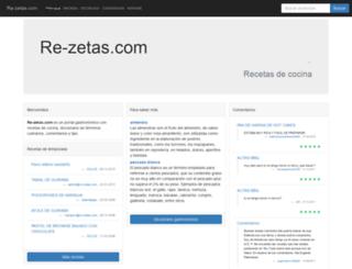 re-zetas.com screenshot
