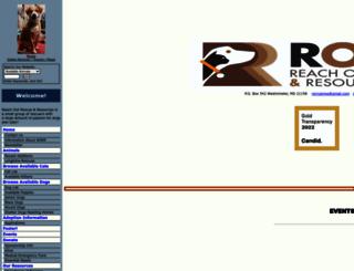 reachoutrescue.org screenshot