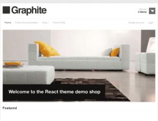 react-graphite.myshopify.com screenshot