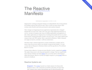 reactivemanifesto.org screenshot