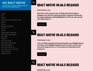 reactnative.com screenshot