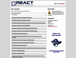 reactschools.enrollware.com screenshot