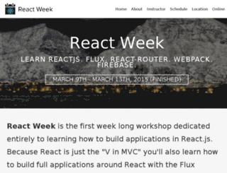 reactweek.com screenshot