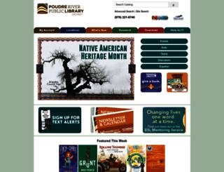 read.poudrelibraries.org screenshot
