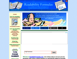 readabilityformulas.com screenshot