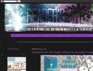 readerslive1000lives.com screenshot