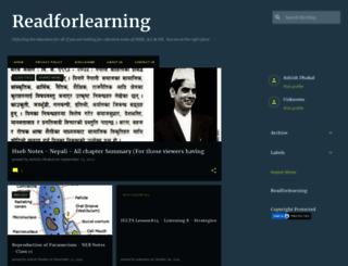 readforlearning.blogspot.com screenshot
