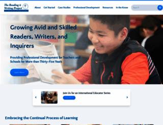 readingandwritingproject.org screenshot