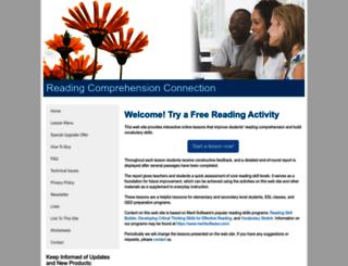 readingcomprehensionconnection.com screenshot