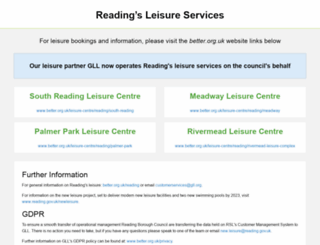 readingleisure.co.uk screenshot