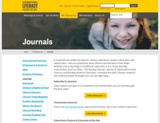 readingonline.org screenshot