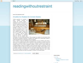 readingwithoutrestraint.blogspot.com screenshot