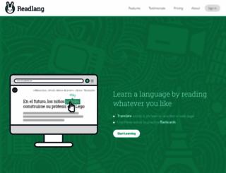 readlang.com screenshot
