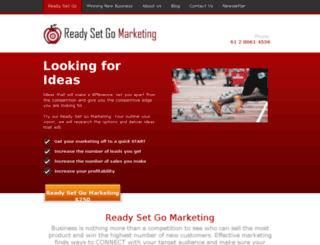 readysetgo.onthemarkmarketing.com.au screenshot
