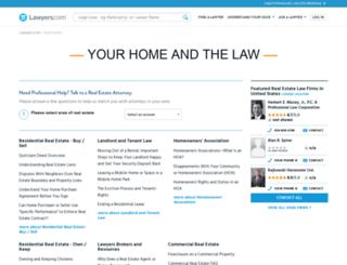 real-estate.lawyers.com screenshot