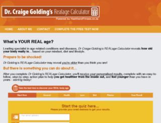 realagecalculator.healthandfitnessclub.co.za screenshot