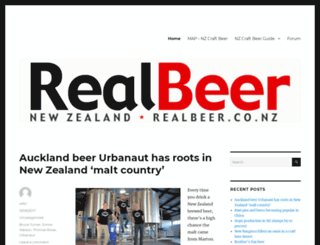 realbeer.co.nz screenshot