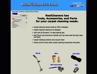 realcleaners.com screenshot