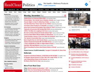 realclearpolitics.com screenshot