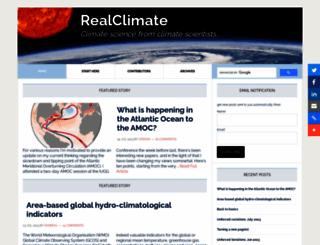 realclimate.org screenshot