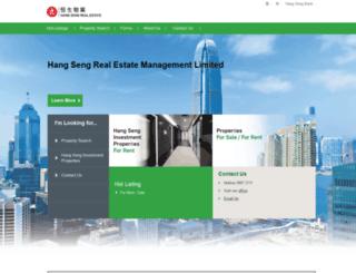 realestate.hangseng.com screenshot