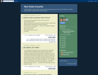 realestateactuality.blogspot.com screenshot