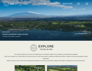 realestatelistings.luxurybigisland.com screenshot
