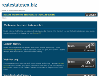 realestateseo.biz screenshot