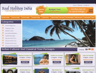 realholidayindia.com screenshot