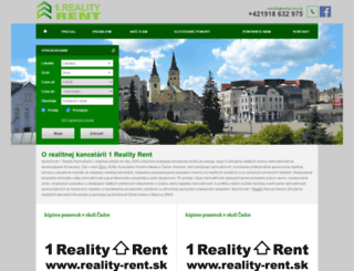 reality-rent.sk screenshot