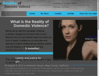 realityofdomesticviolence.com screenshot