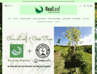 realleafjewelleryaustralia.com.au screenshot