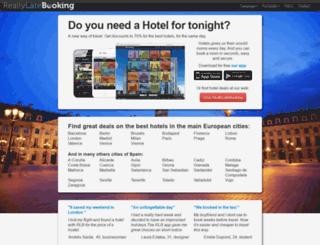 reallylatebooking.com screenshot