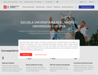 realmadrid.universidadeuropea.es screenshot