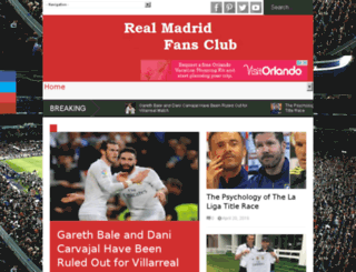 realmadridfansclub.com screenshot