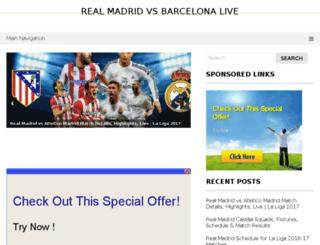 realmadridvsbarcelona-live.com screenshot