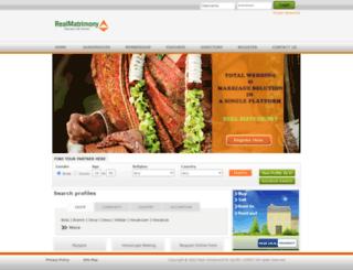 realmatrimony.com screenshot