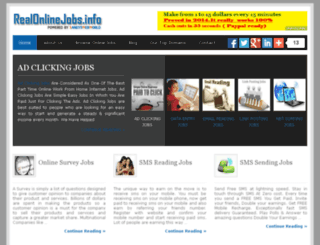 realonlinejobs.sandyswebworld.com screenshot