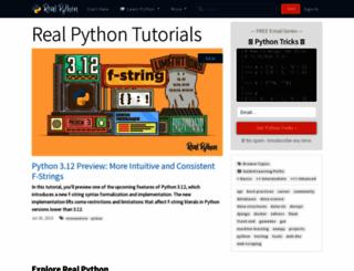 realpython.com screenshot