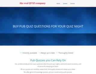 realquizcompany.co.uk screenshot