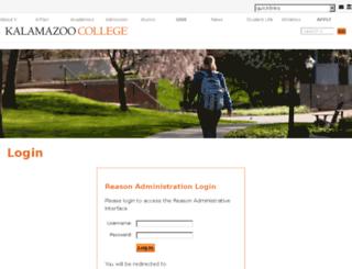 reason.kzoo.edu screenshot