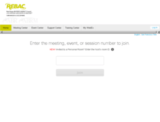 rebac.webex.com screenshot