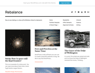 rebalancedemo.wordpress.com screenshot