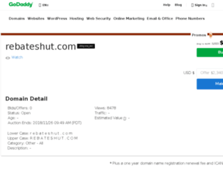 rebateshut.com screenshot