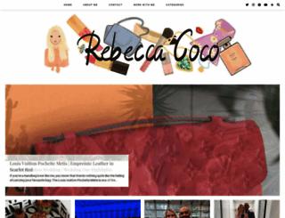 rebeccacoco.co.uk screenshot