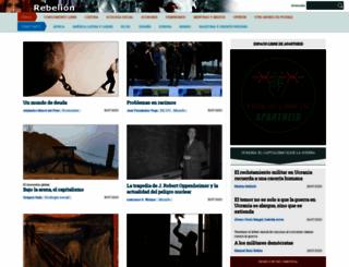 rebelion.org screenshot